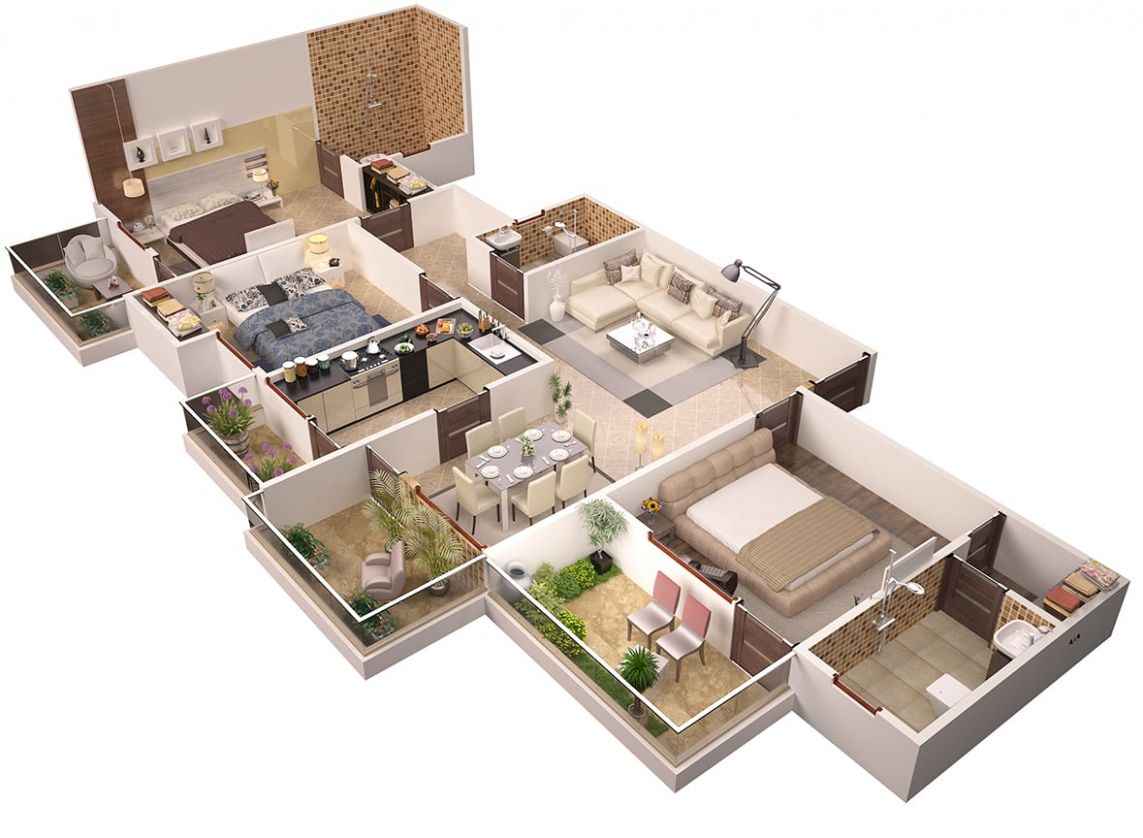 Create 11d interior design or 11d floor plans by Jayhanu - apartment design architecture pdf