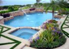 Create A View Pool Landscaping Ideas In The Garden Water Fall ...