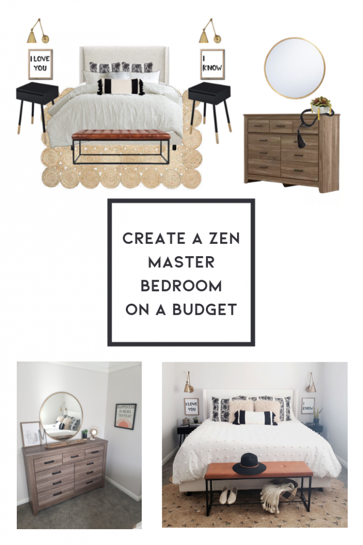 Create a zen master bedroom on a budget. Shop this bedroom ..