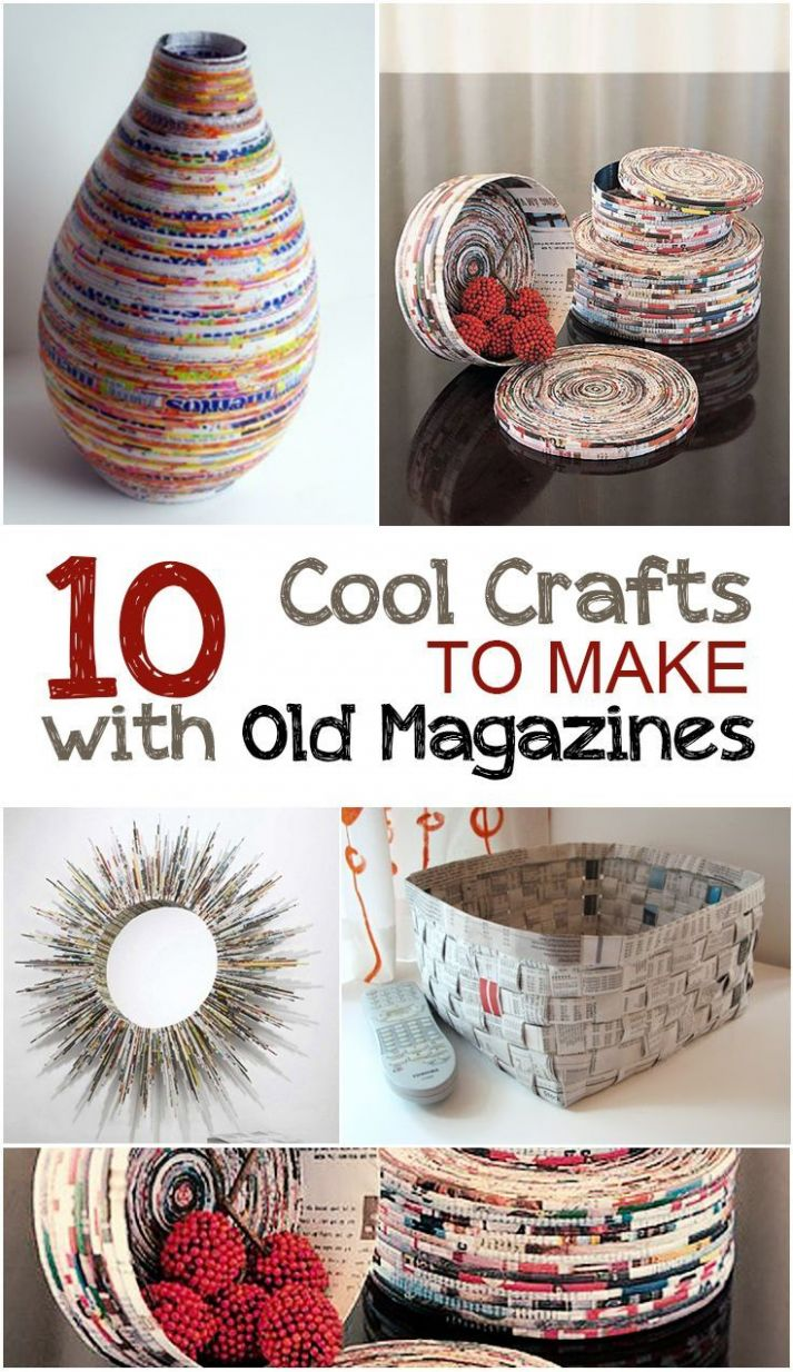 Creative Crafts to Make with Old Magazines (With images) | Old ...
