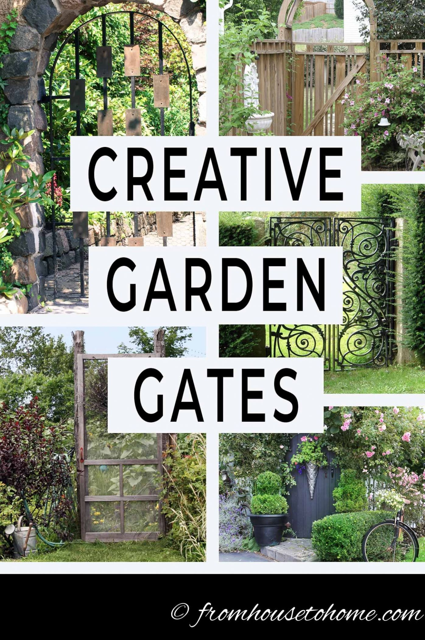 Creative Garden Gate Ideas For A Beautiful Backyard (With images ...