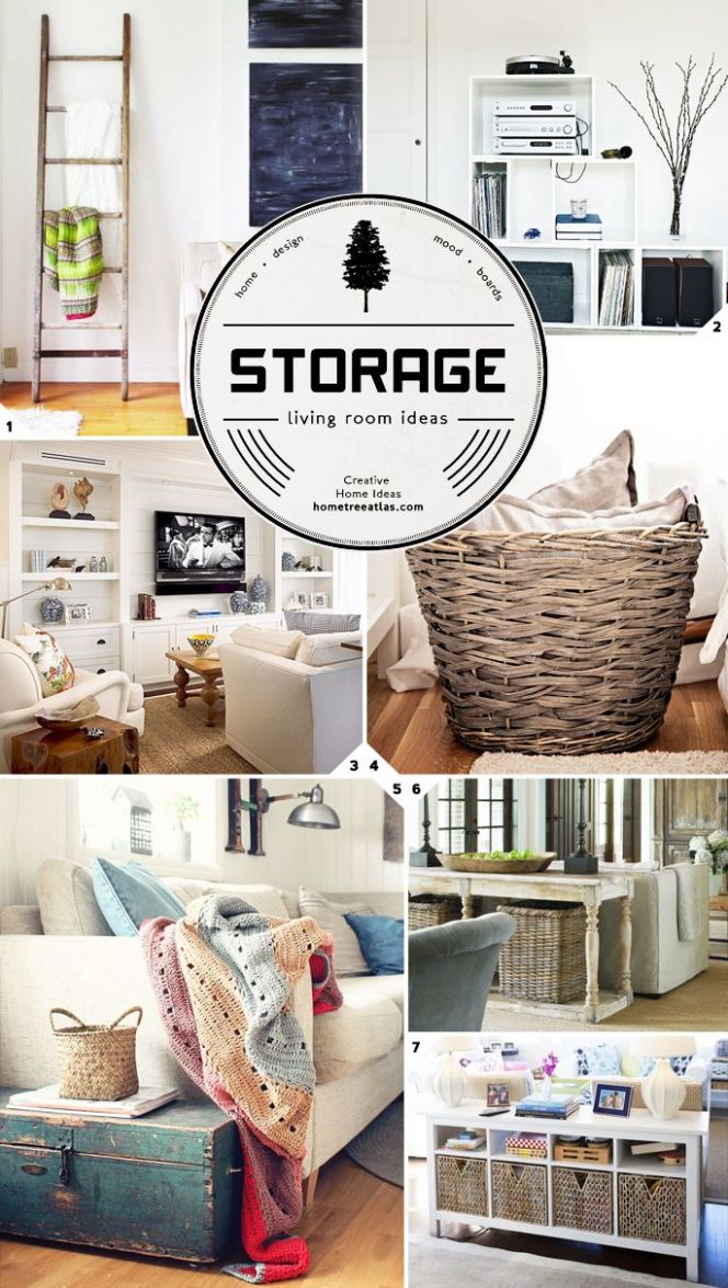 Creative Living Room Storage Ideas (With images) | Living room ..