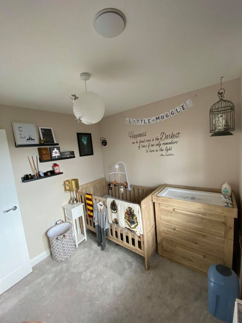 Creative mum designs a Harry Potter themed nursery for just £11 ..