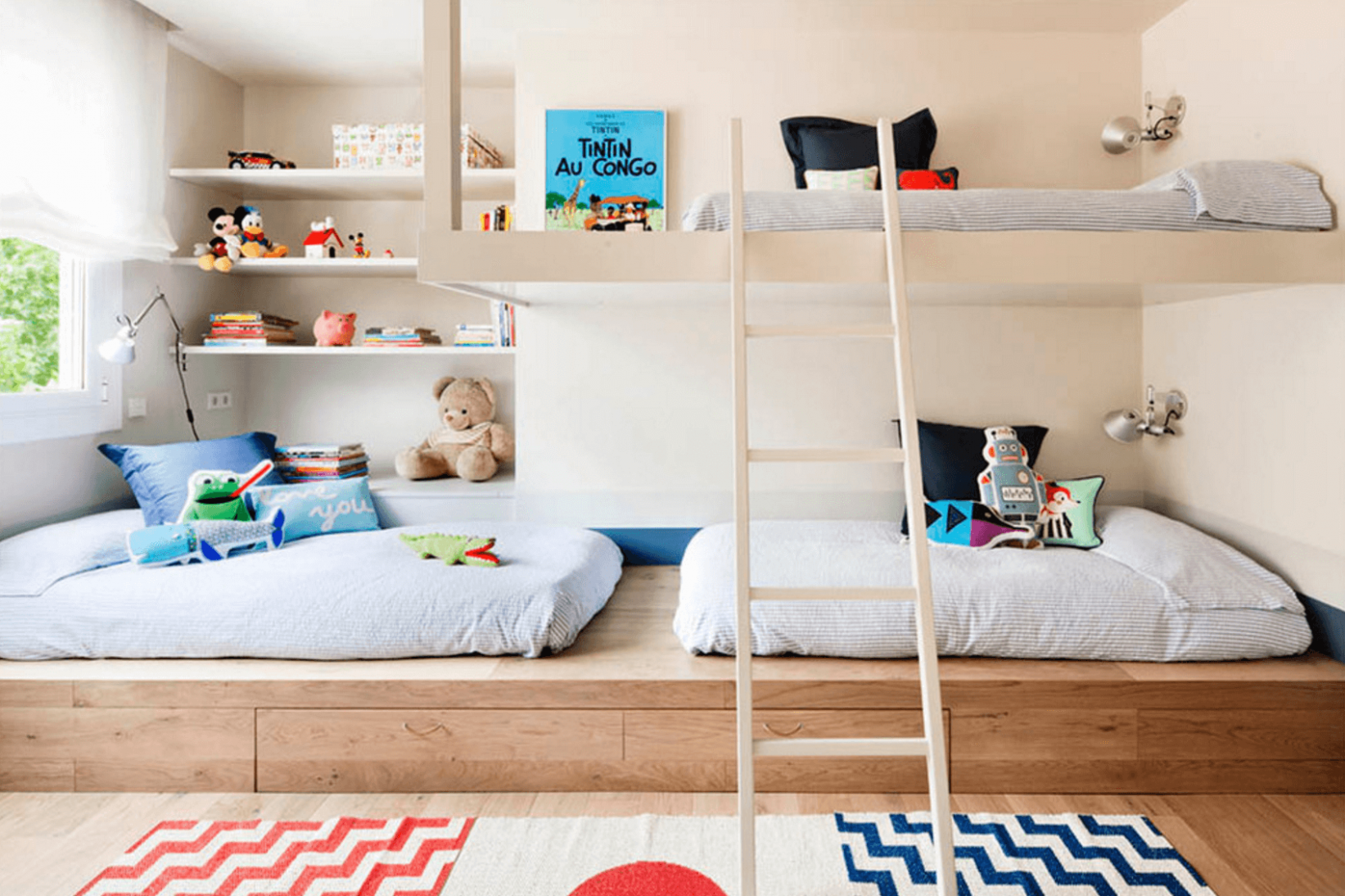 Creative Shared Bedroom Ideas for a Modern Kids' Room (Fres Home ...