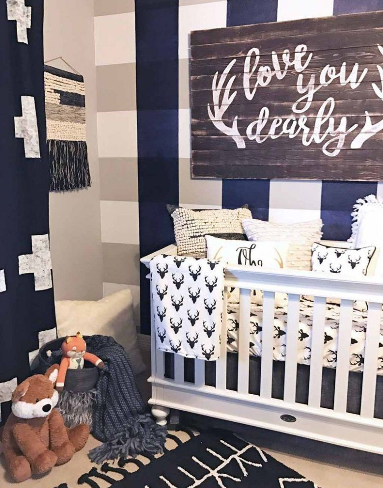 Crew's 'Love You Dearly' Nursery (With images) | Baby boy room ...