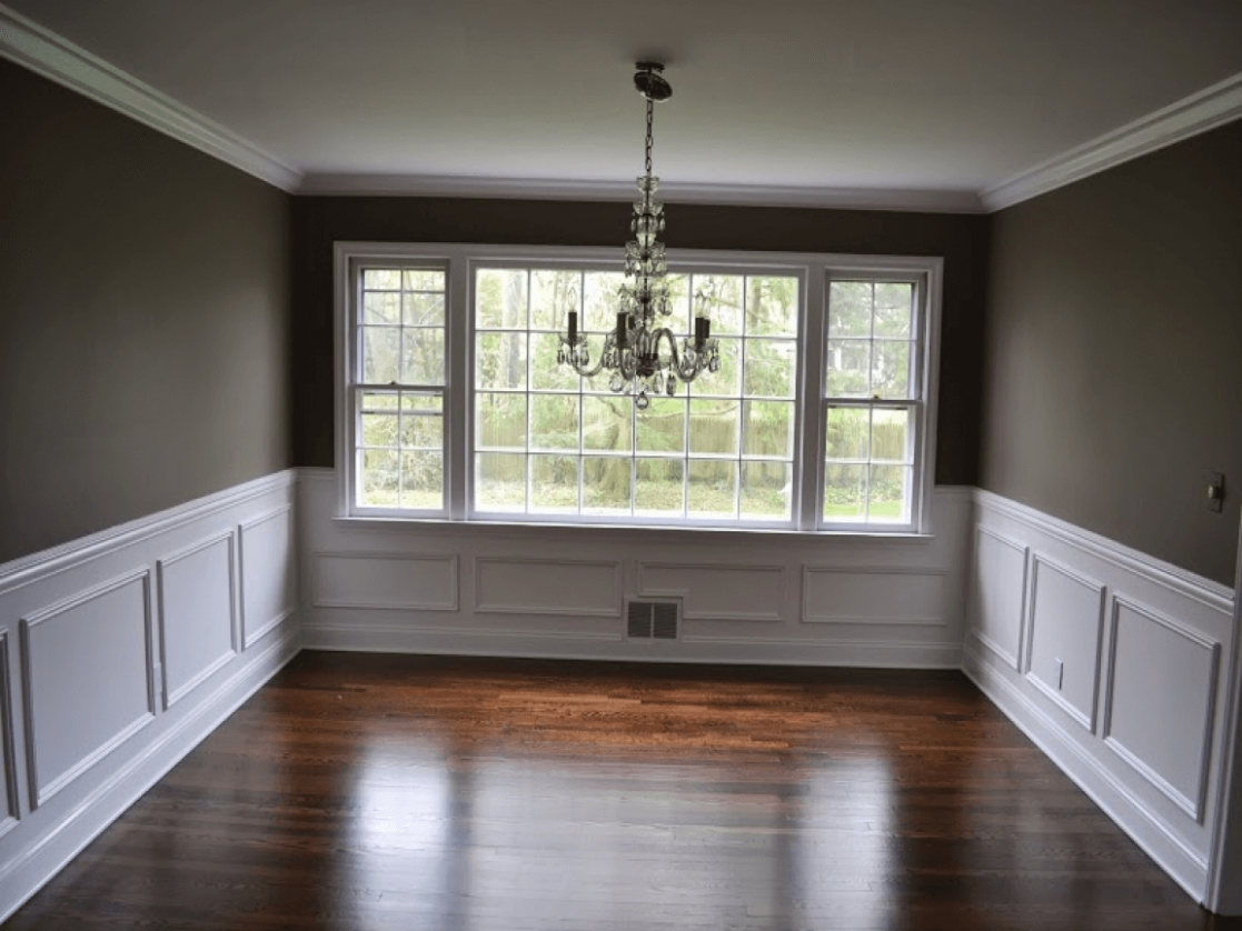 Crown Molding Chair Rail Dining Room Wall Trim Design Ideas (With ..