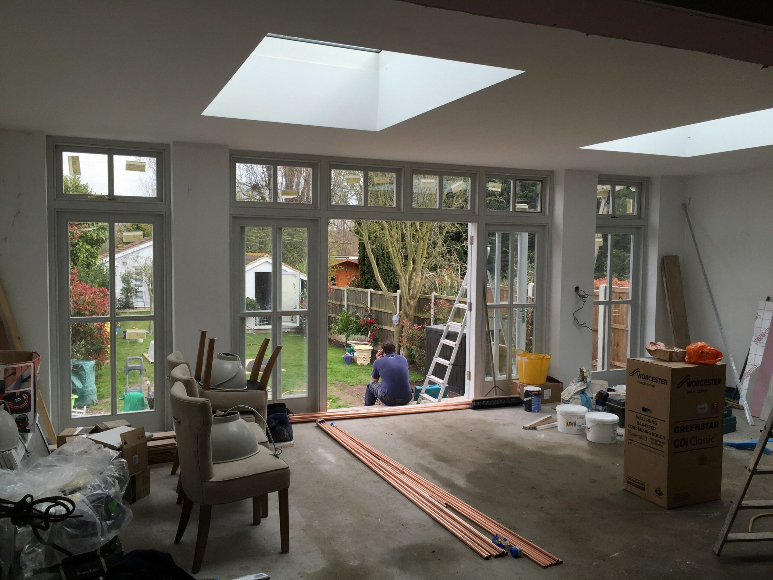Current Project - Single storey rear extension amazing wooden ..