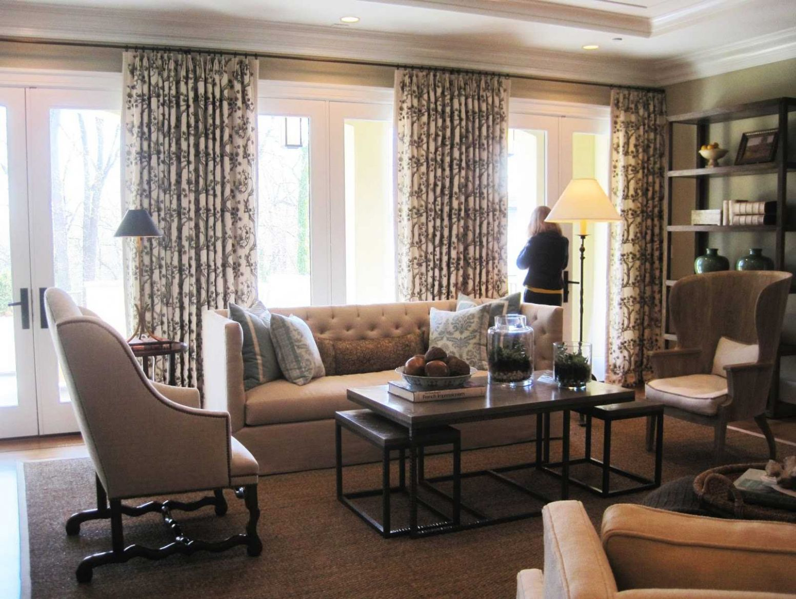 Curtain Ideas For Family Room Including Incredible And Valances ..
