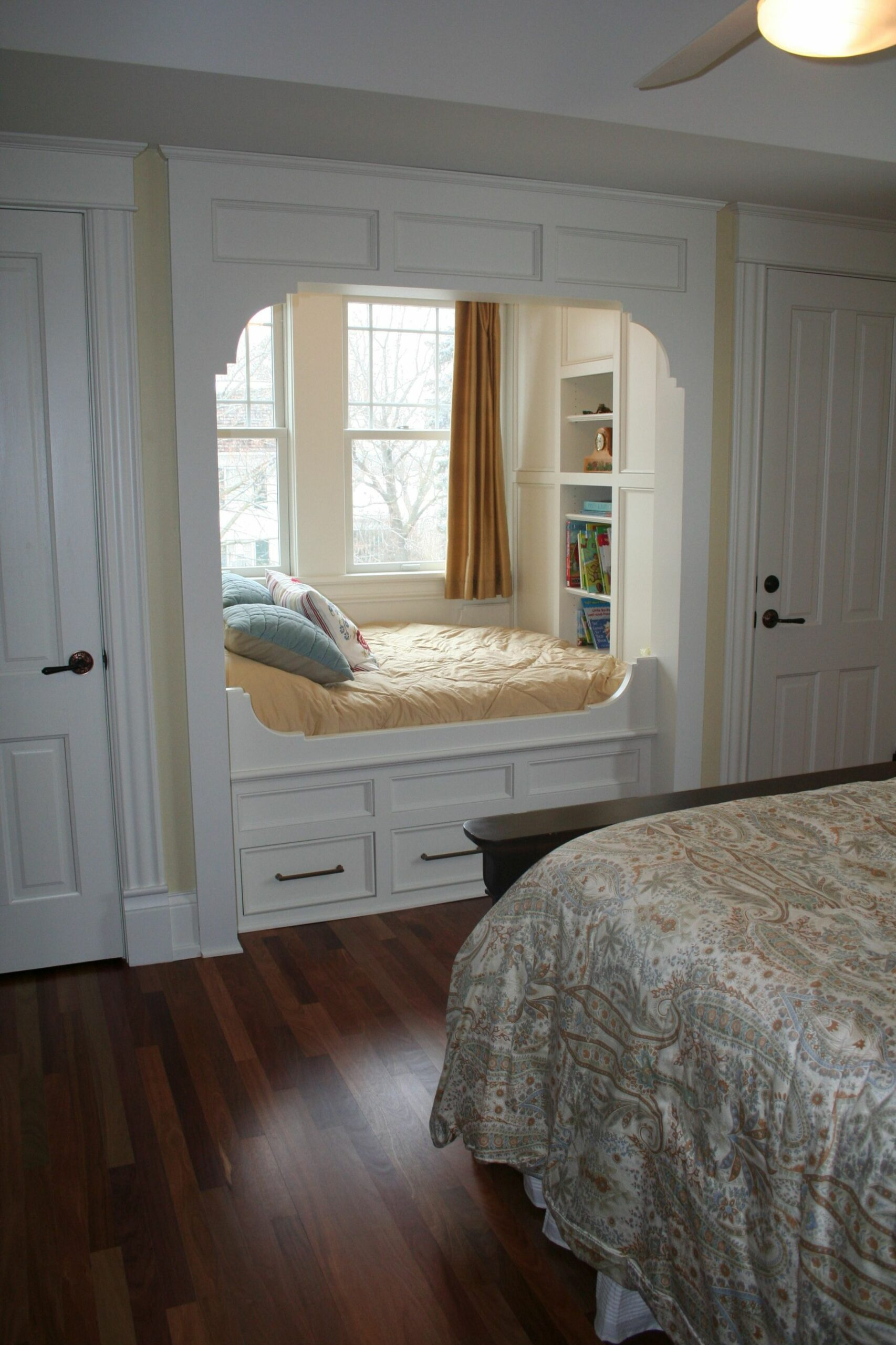Custom built-in bed in a bedroom alcove for reading!! My life's ...