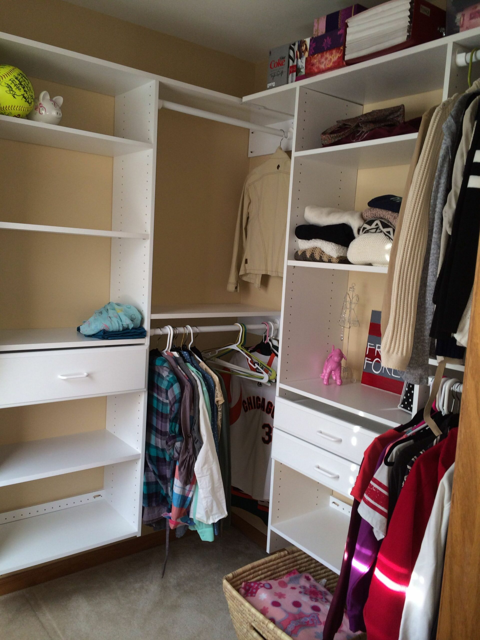 Custom-fitted closet organization (ordered through Menards) (With ...