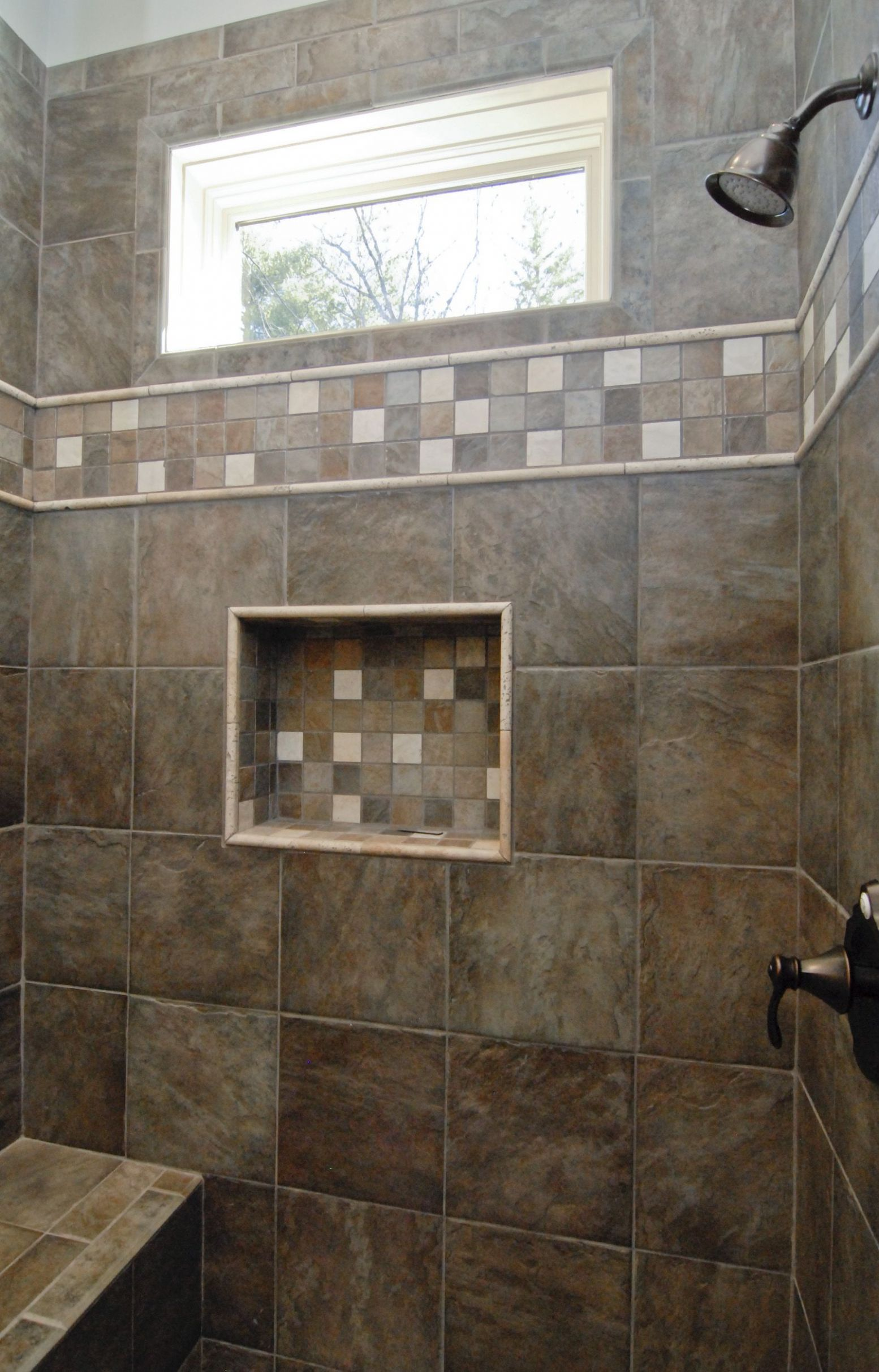 Custom Home Builder (With images) | Window in shower, Tile walk in ...