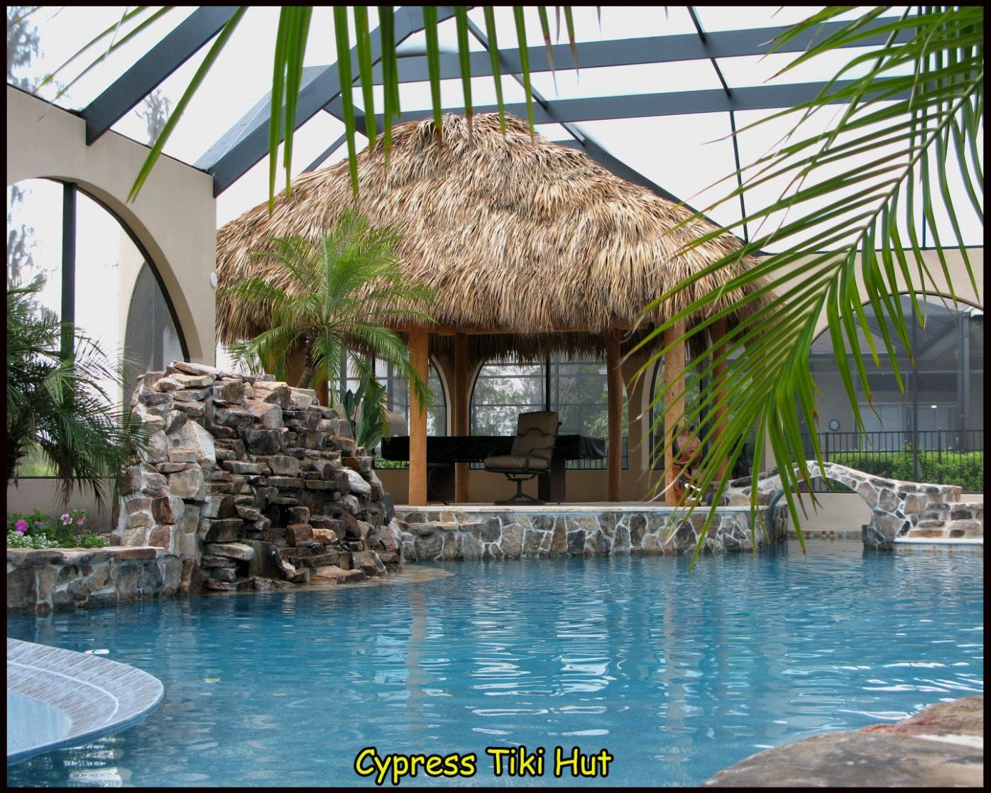 Custom Tiki Huts (With images) | Tiki hut, Tiki bar, Cool pools - pool hut ideas