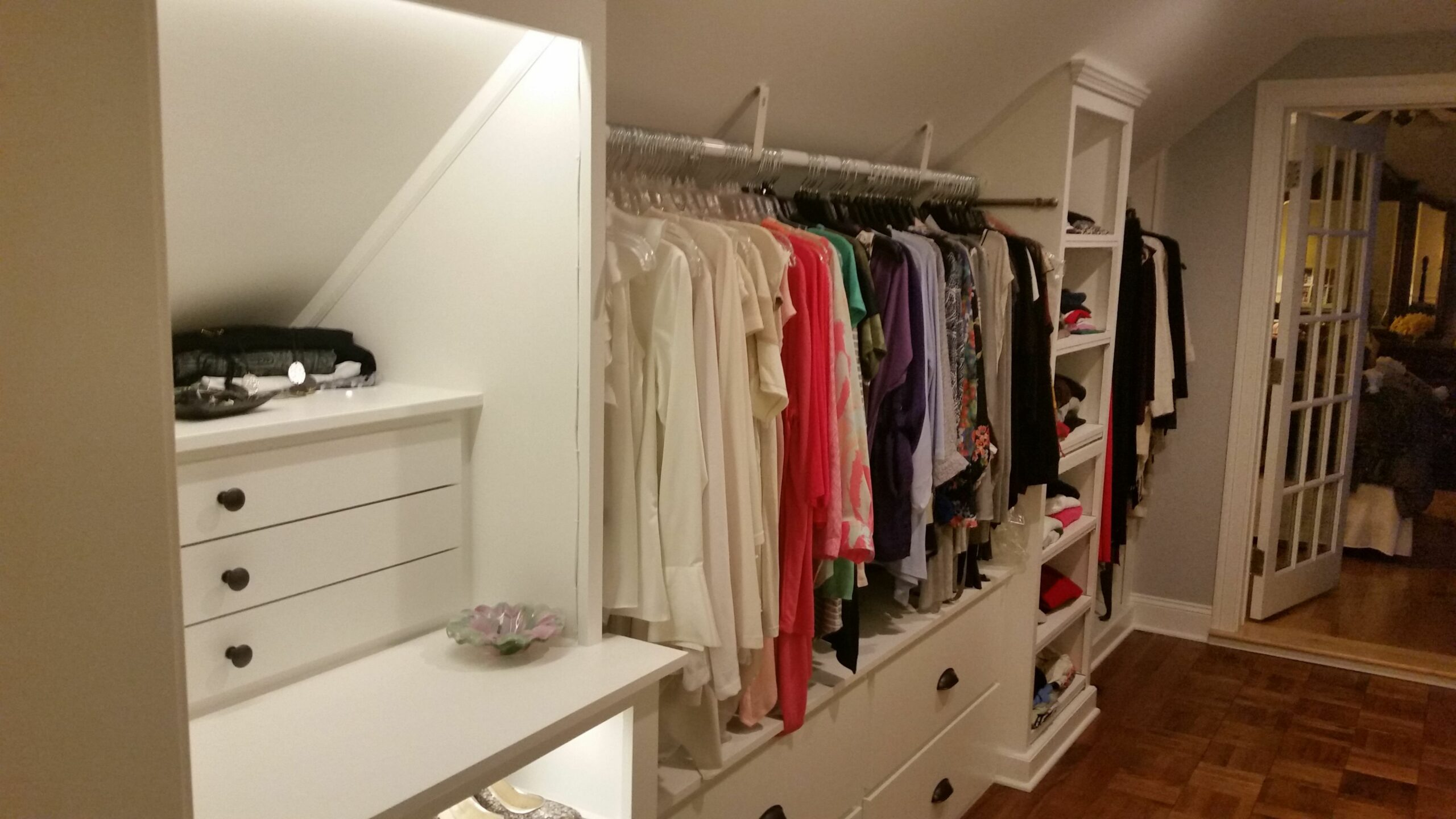 Custom Walk-in Closet, slanted ceilings (With images)   Slanted ...