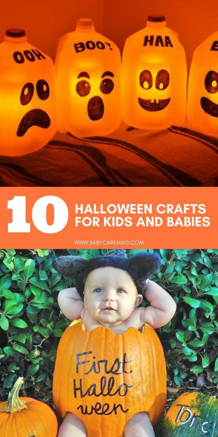 Cute and Simple Halloween Crafts for Babies (With images) | Baby ..