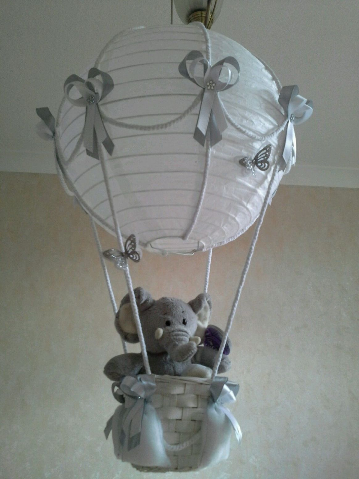 Cute little Elephant in Hot Air Balloon light lamp shade Made To ..