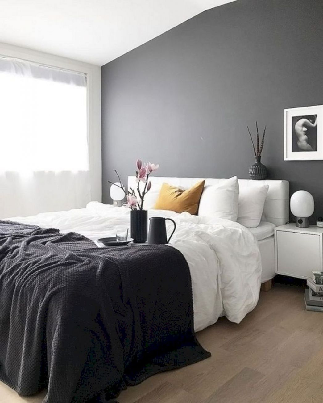 Dark Grey Wall Bedroom Ideas – DECOOR