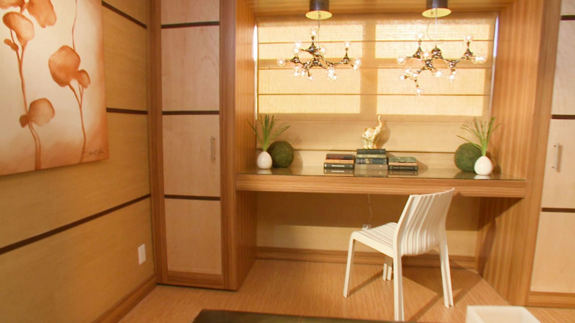 David fuses beauty and function in a Zen home office space ..