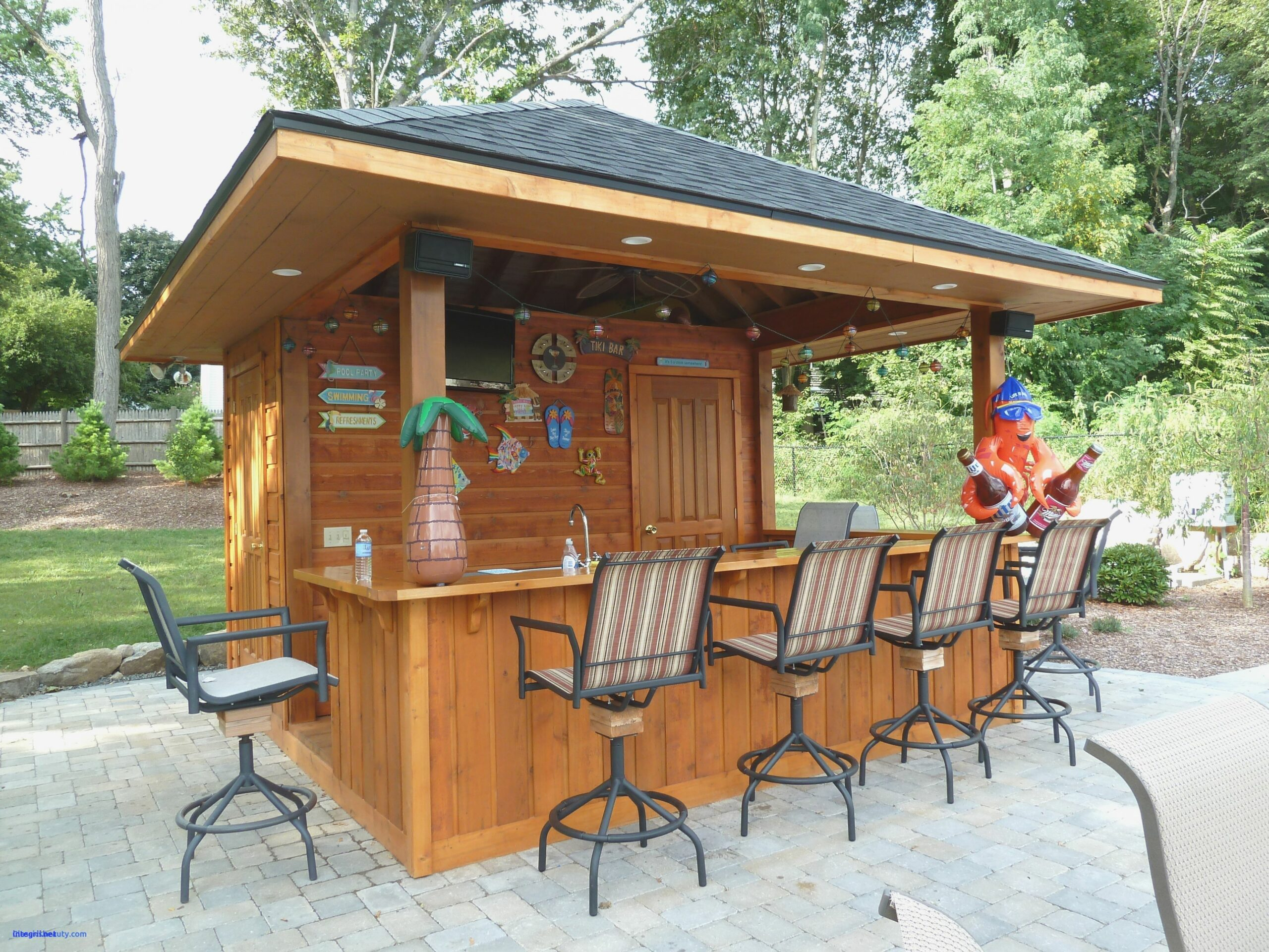 Deck Patio Backyard Tiki Outdoor Bars Hut Bar Concession Stand ..