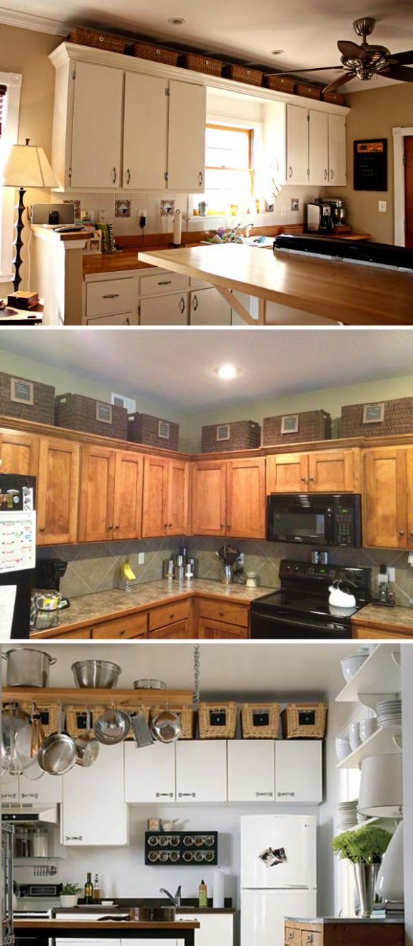 Decorating Ideas For Above Kitchen Cabinets Picture Of How Small ...