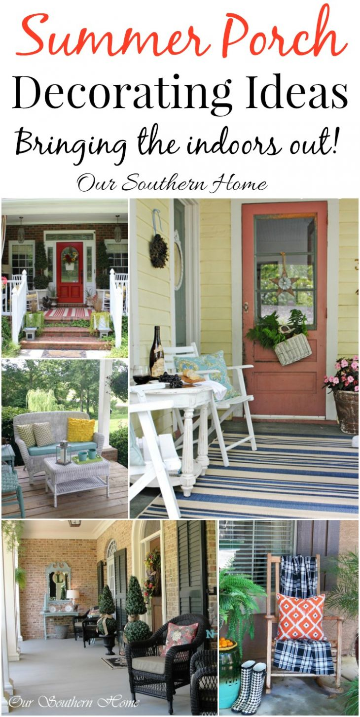 Decorating Ideas for Porches - Our Southern Home - front porch southern decor