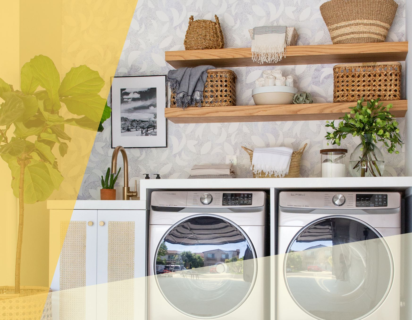 Design Ideas From a Gorgeous Garage-Turned-Laundry Room | Real Simple - laundry room ideas in garage