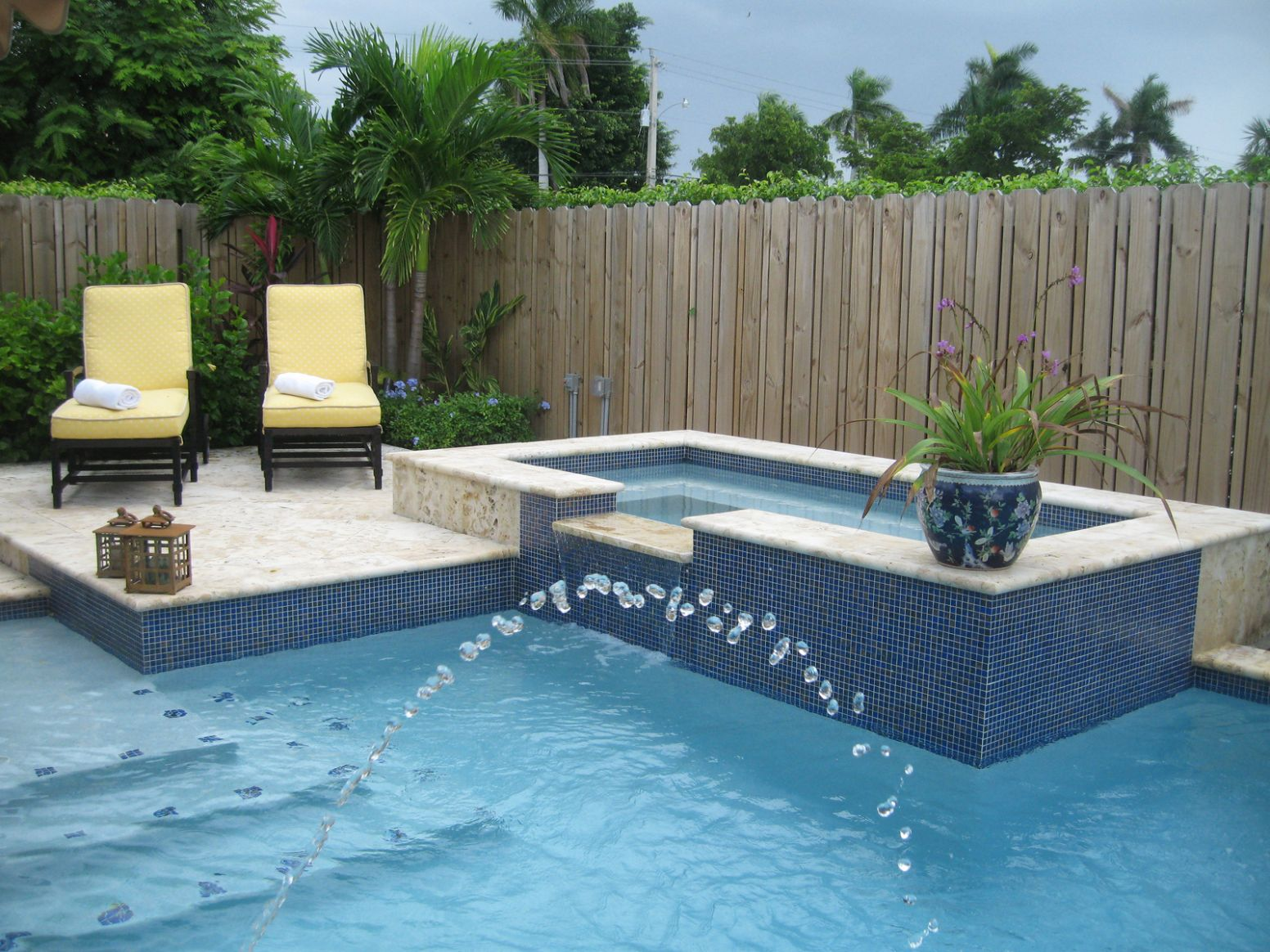 Designer Pools And Spas Logo Small Yard Pool Spa Home Elements ..