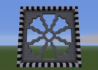 Detail] Gothic styled rose window | Minecraft blueprints ...