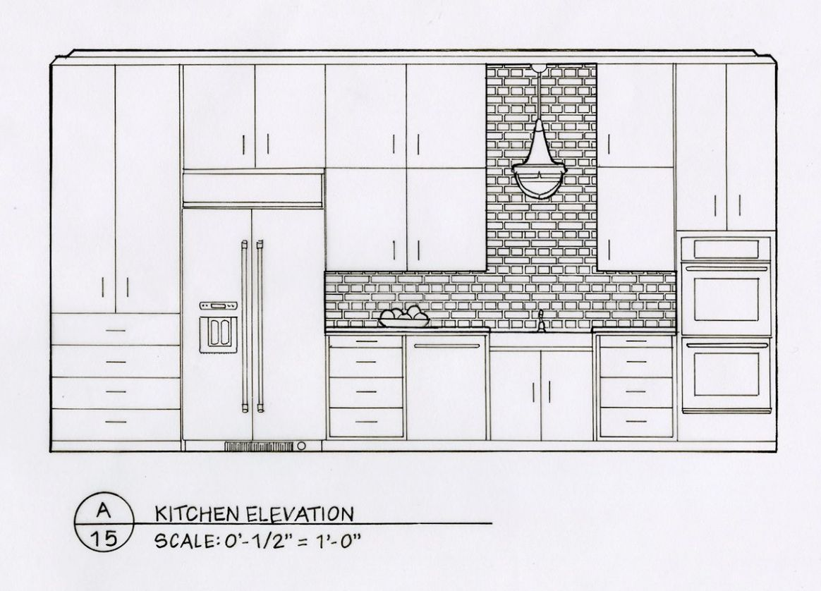 Detailed Elevation Drawings: Kitchen, Bath, Bedroom on Behance ...