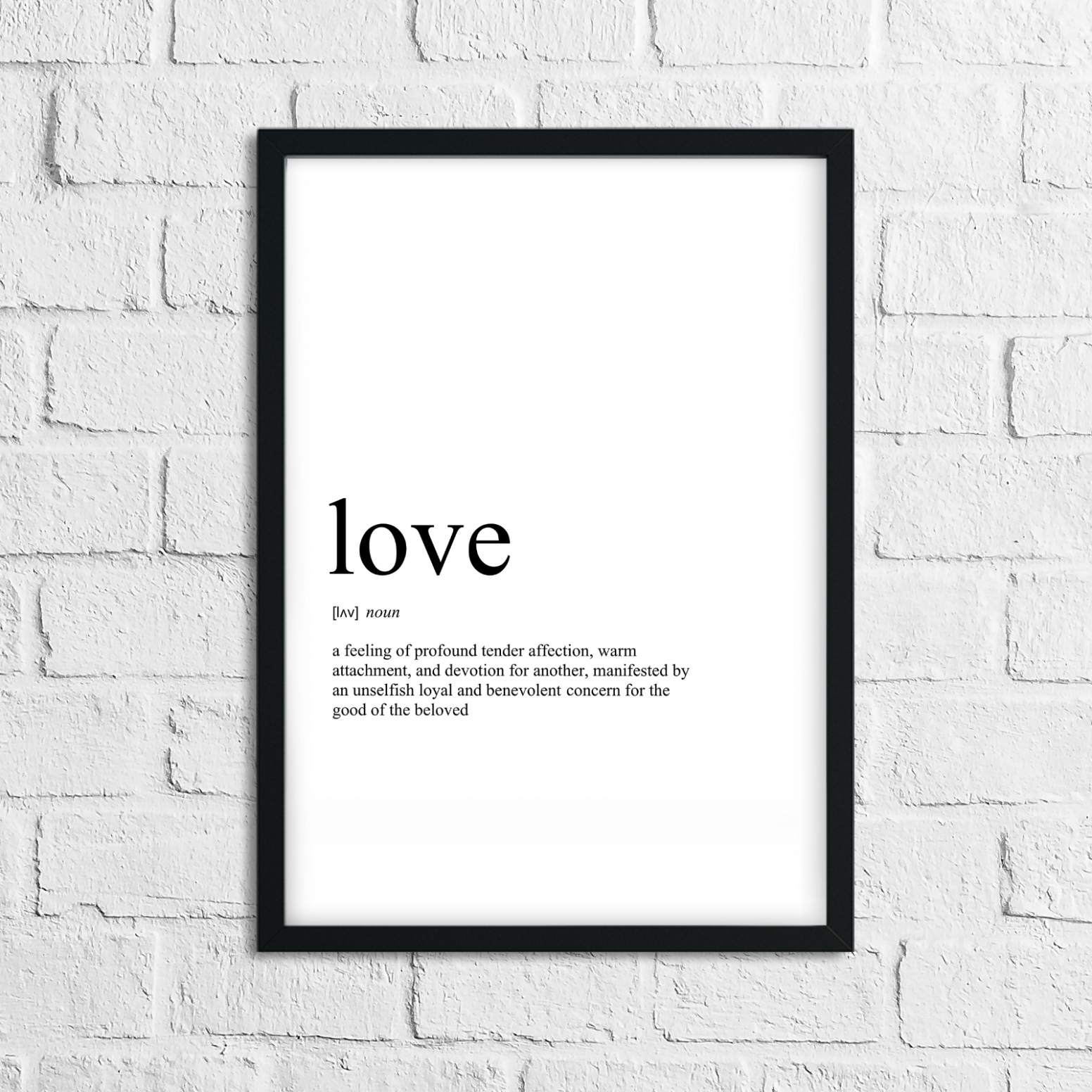 Details about Funny Love Meaning Print, Definition, Typograpy, Wall Art  Gift, Home Decor - home decor meaning