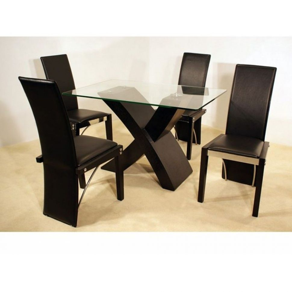Dining Room Table Bases For Glass Tops | Glass top dining table ...