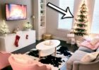 DIY Christmas Tree Wall (Great for Small Spaces!) + My Holiday Living Room  Decor!