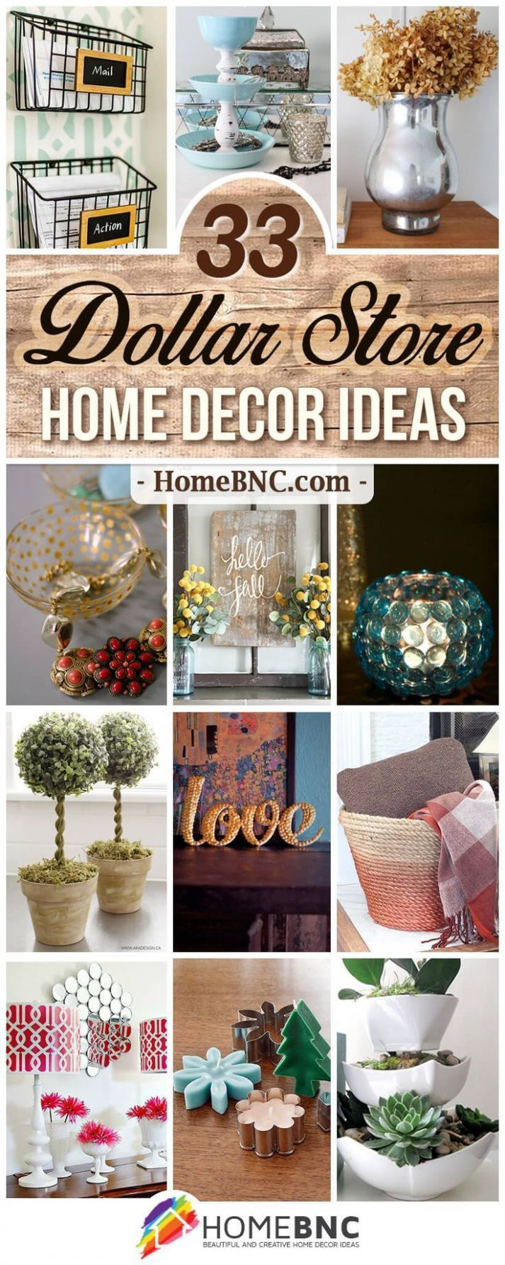 DIY Dollar Store Home Decor Ideas | Diy home decor, Diy home decor ..