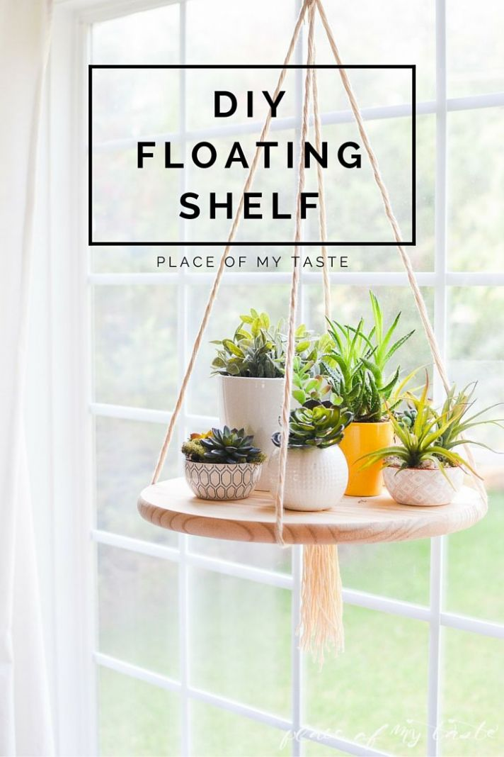 DIY FLOATING SHELF to display your plants or other decor items ..