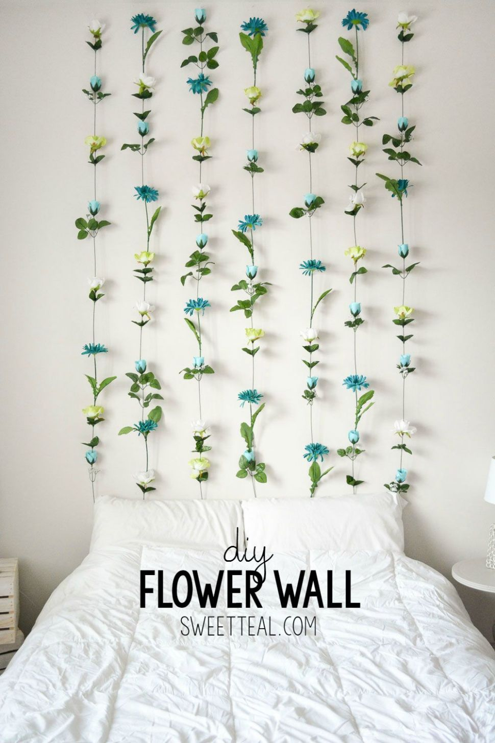 DIY Flower Wall (With images) | Diy bedroom decor for teens, Diy ...