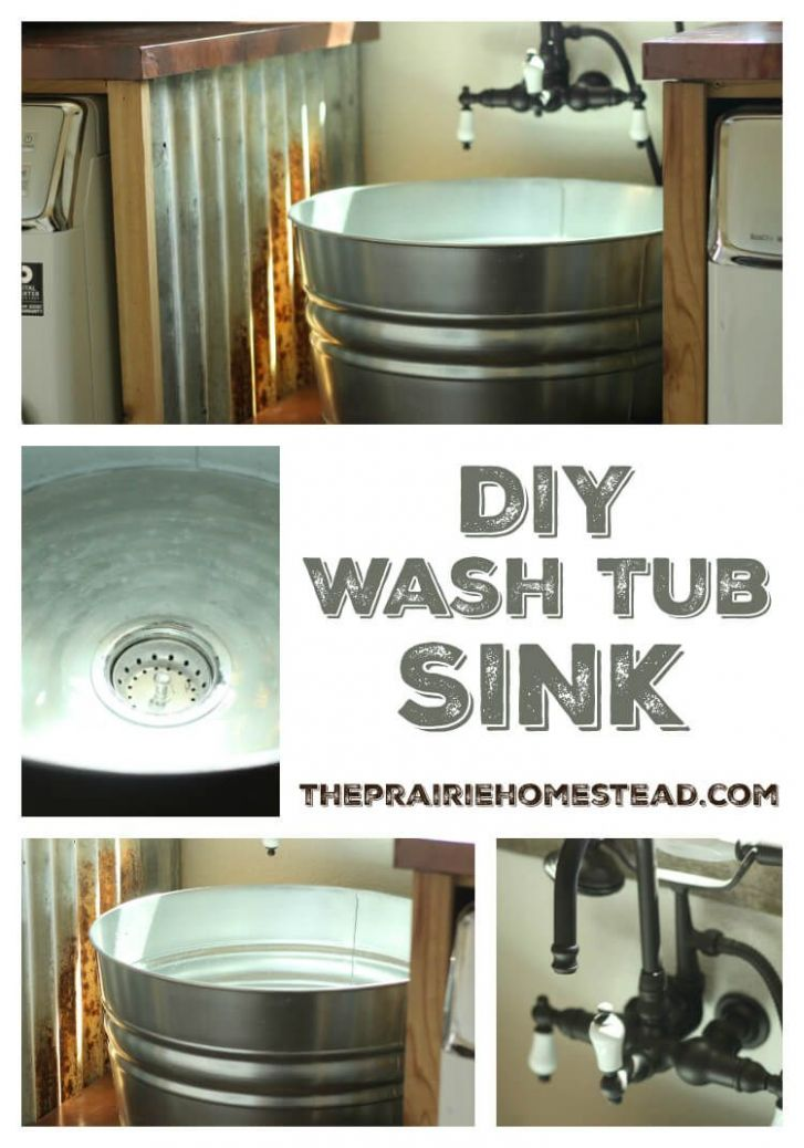 DIY Galvanized Tub Sink (With images) | Laundry room sink ..