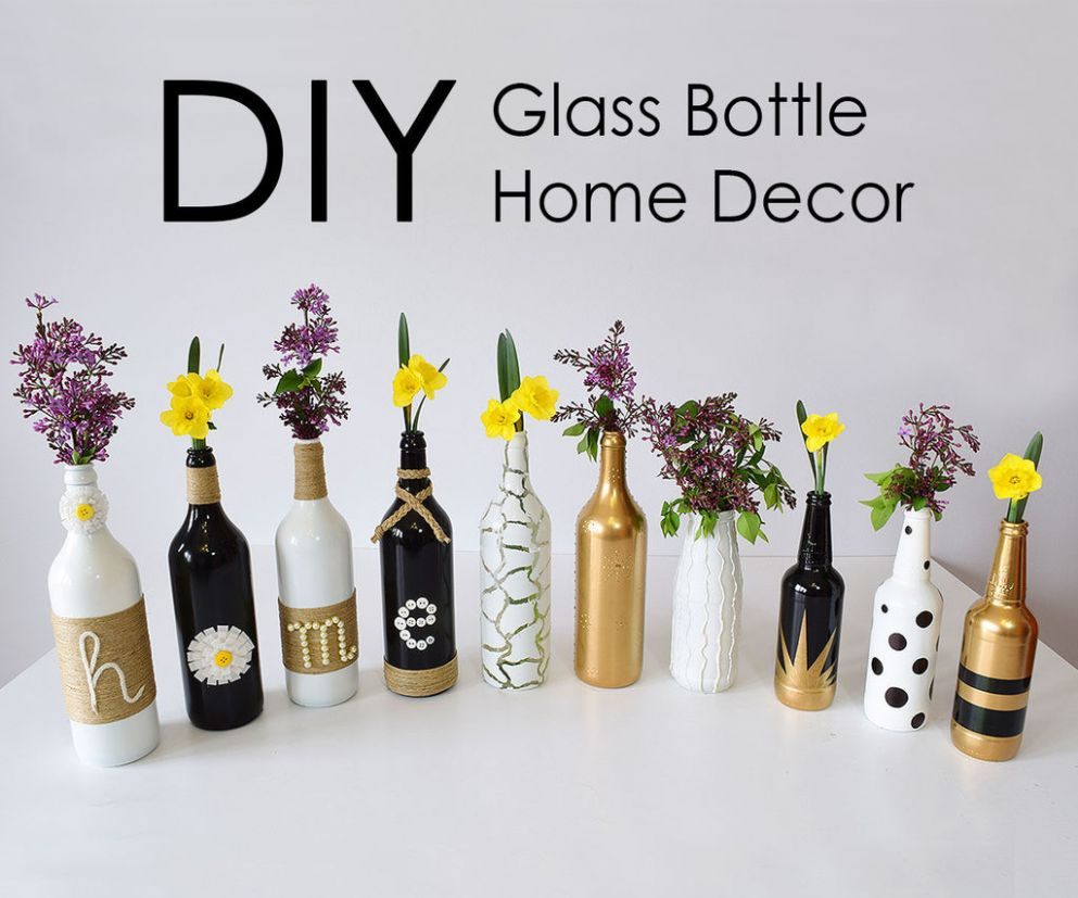 DIY Glass Bottle Home Decor – 11 Simple Ideas : 11 Steps (with ..
