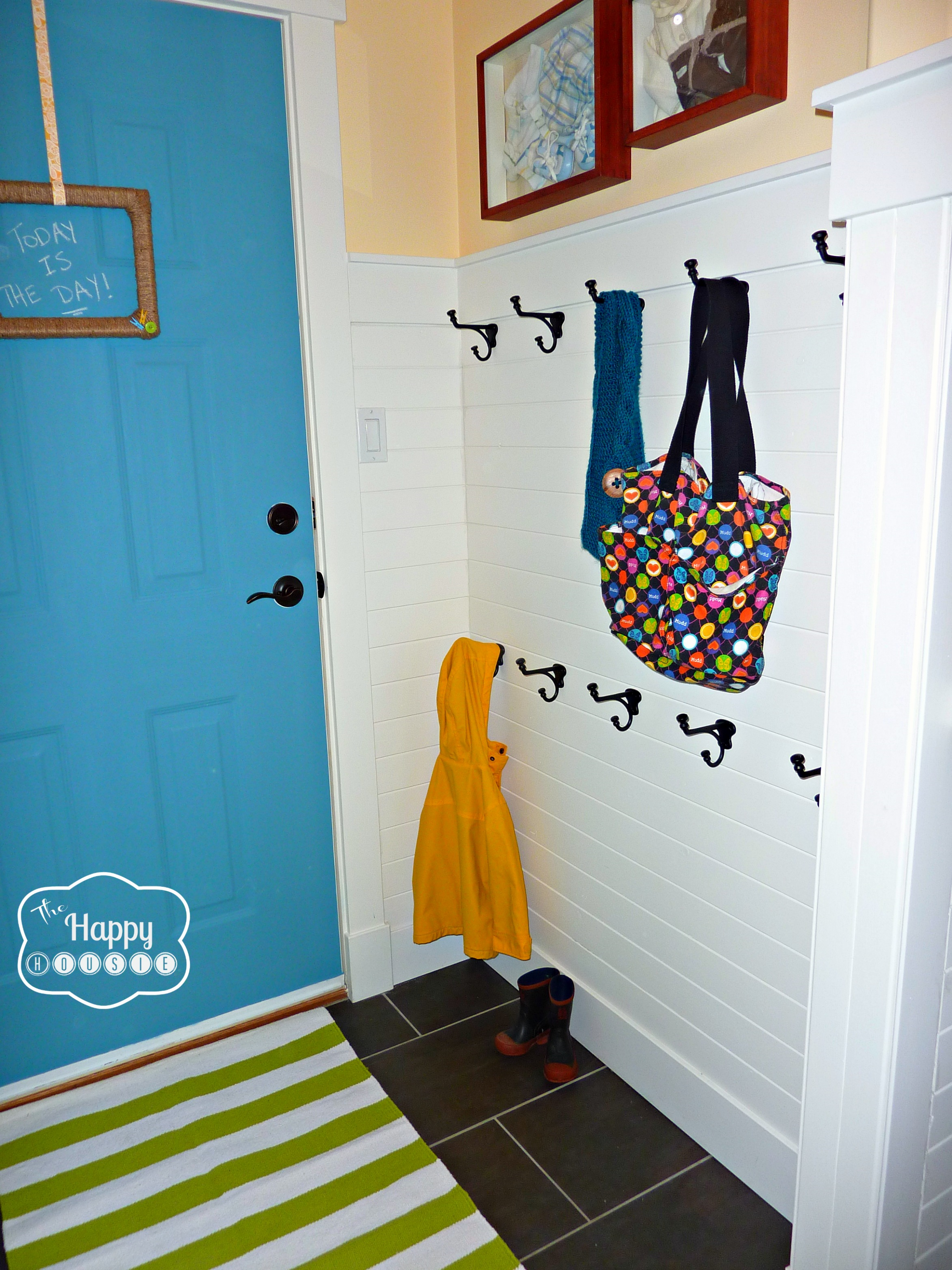 DIY Hang It Up!: A Hook Hanging How-To | The Happy Housie - laundry room hook ideas