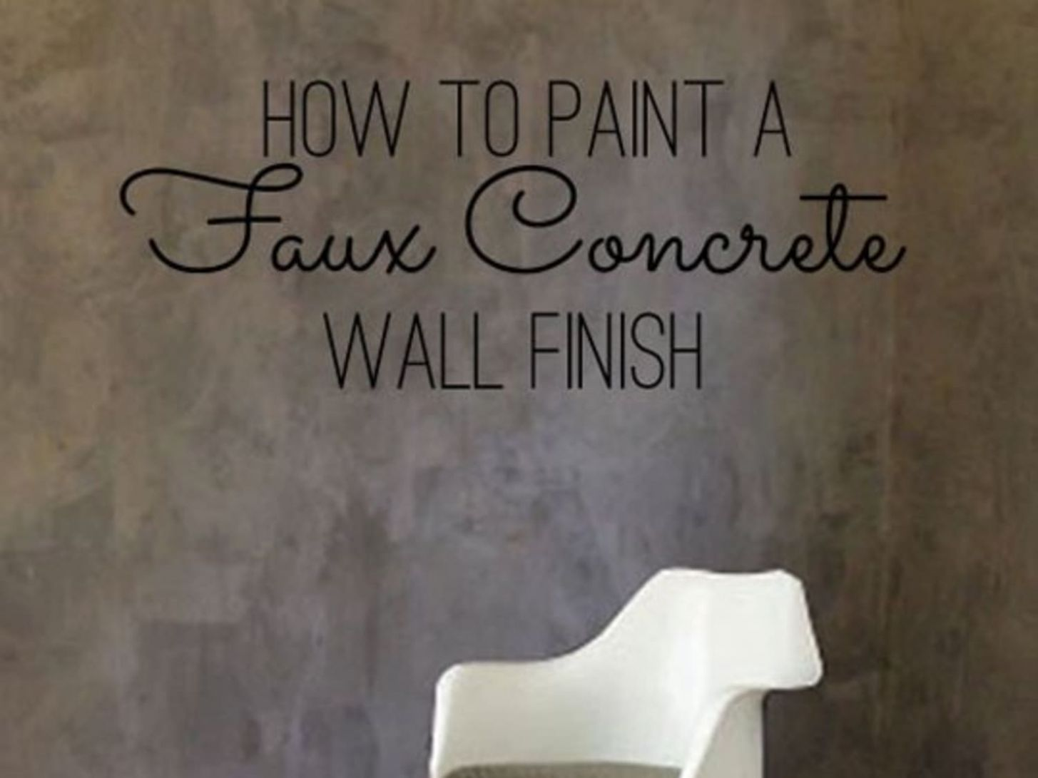DIY Home Decor: How To Paint a Faux Concrete Wall Finish ..