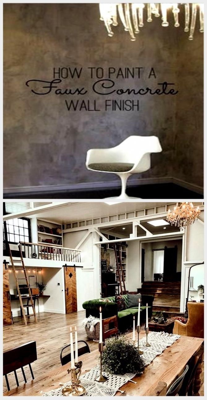 DIY Home Decor: How To Paint a Faux Concrete Wall Finish ...