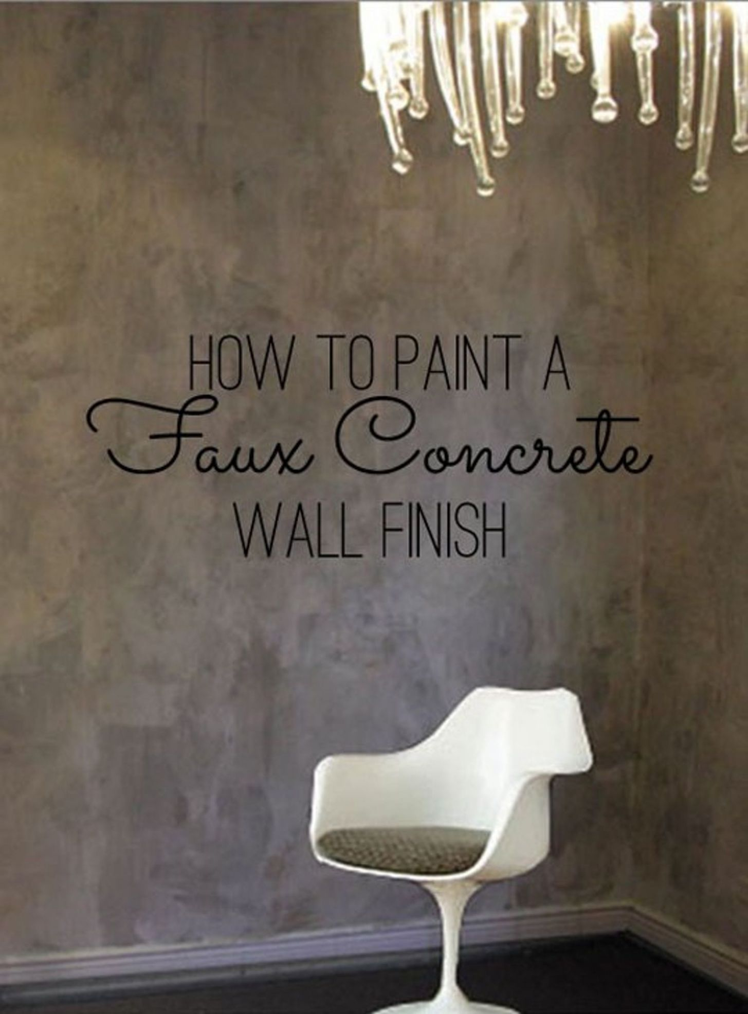 DIY Home Decor: How To Paint a Faux Concrete Wall Finish (With ..