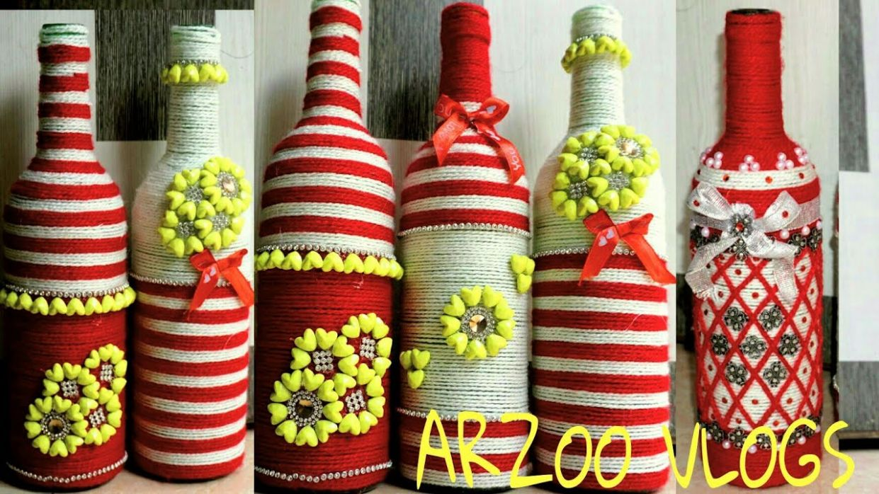 DIY Home Decor Ideas || Recycled 🍺 glass bottle to make Flower Vase ||  ARZOO VLOGS - diy home decor with glass bottles