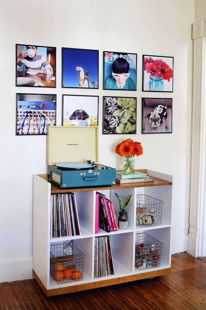 DIY home decor projects : Record Frame Instagram Photo Wall more ...