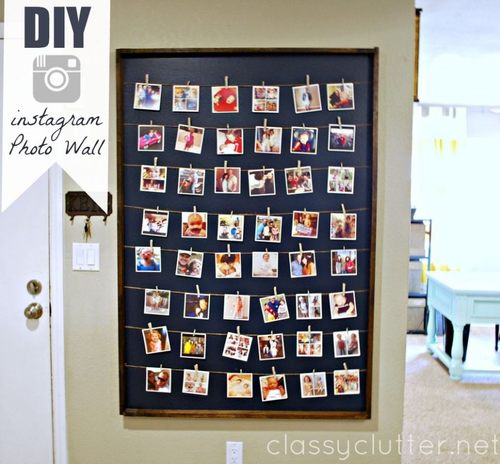 DIY Instagram Photo Wall Display (With images) | Instagram wall ..