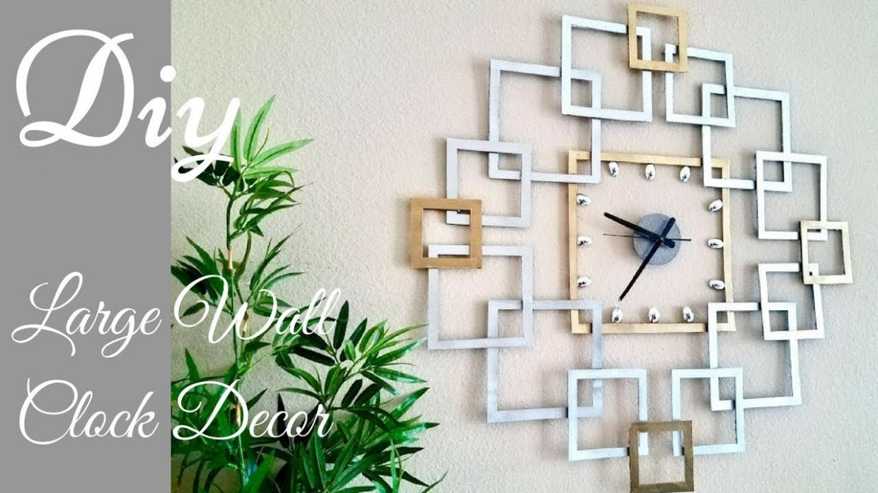 Diy Large Wall Clock Decor| Wall Decorating Idea.