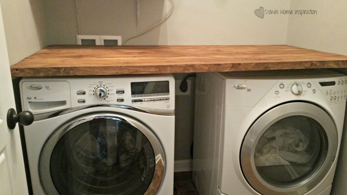 DIY Laundry Room Countertop for Under $12 (With images) | Laundry ...