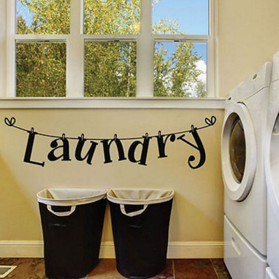 DIY Laundry Room Quote Wall Sticker Home Decor Art Mural Removable ..