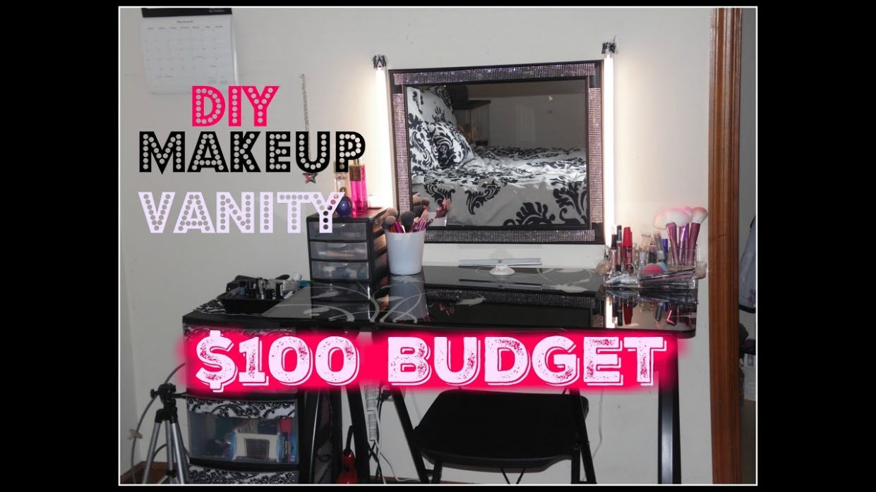 DIY Makeup Vanity On A $8 Budget/ Makeup Station for Cheap