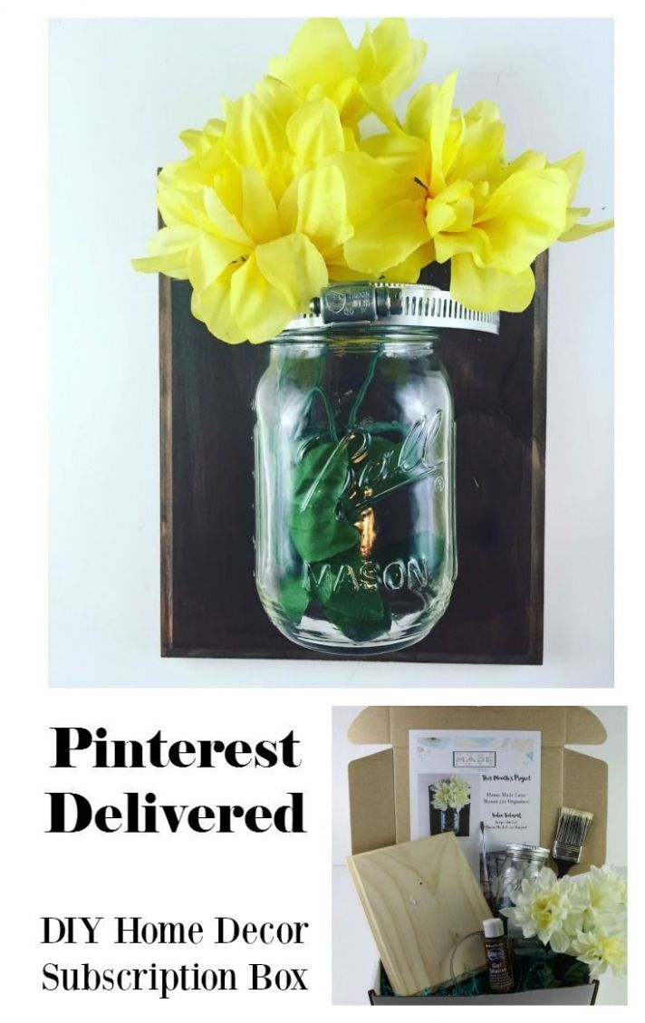 DIY Mason Jar Organizer by Home Made Luxe Subscription Box. Every ..
