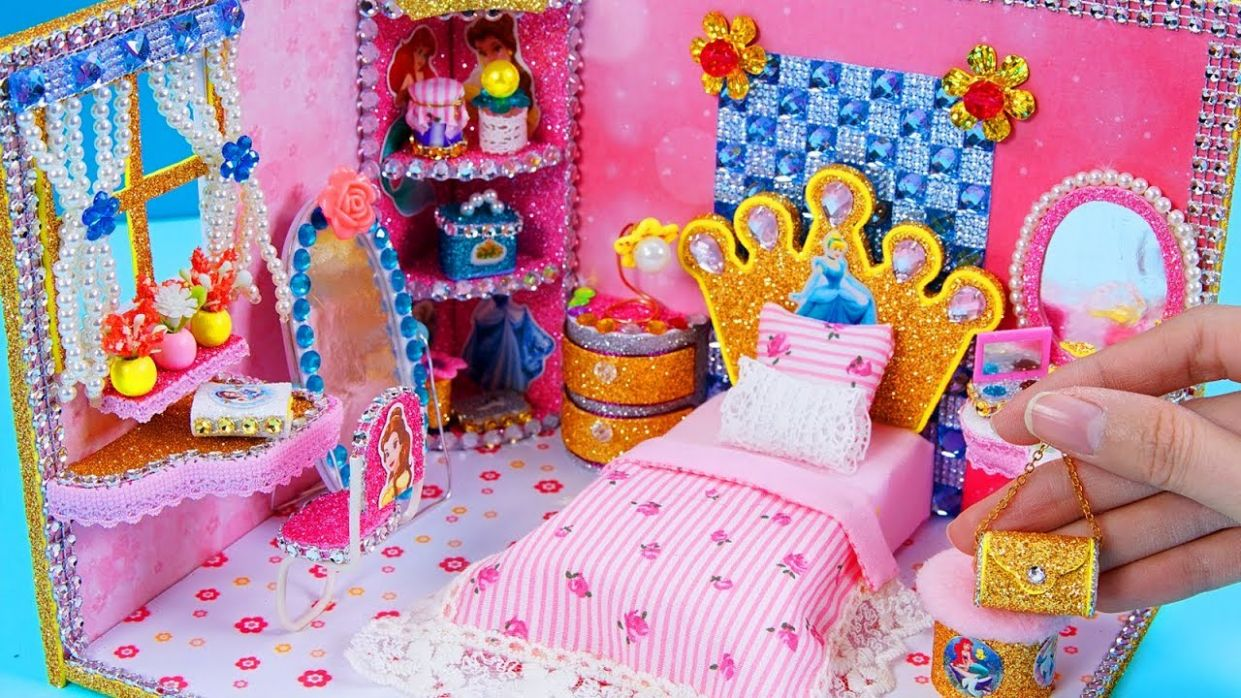 DIY Miniature Dollhouse Room ~ Disney Princess Dollhouse #9
