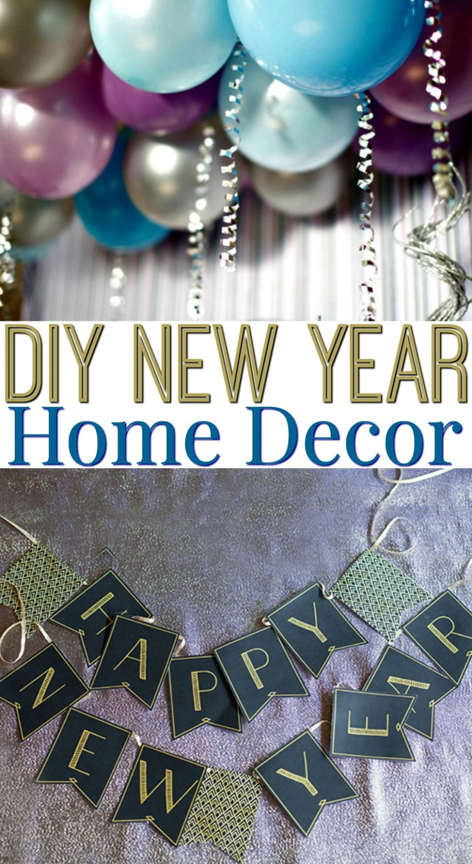 DIY New Year Home Decor - A Little Craft In Your Day - diy home decor for new year